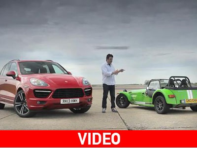 Porsche Cayenne Turbo εναντίον Caterham 7 Supersport
