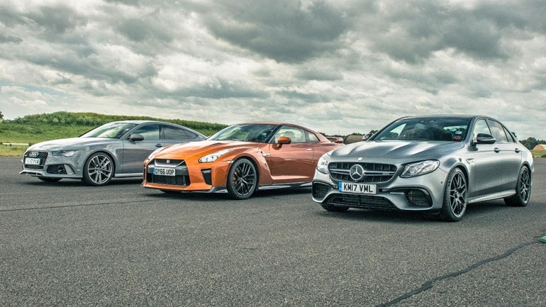 To Nissan GT-R τα βάζει με τα Audi RS7 και Mercedes AMG E63 S