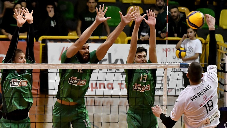 Volley League: Ο Παναθηναϊκός πήρε το ντέρμπι, 3-2 τον ΠΑΟΚ
