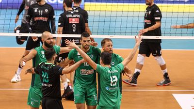 Volley League: Ισοφάρισε ο Παναθηναϊκός, 3-0 σετ τον ΠΑΟΚ