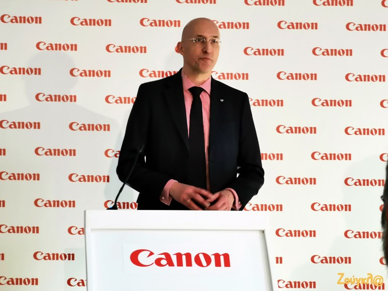 O κ. Hans van den Heuvel, Director Customer Support Canon Europe Ltd